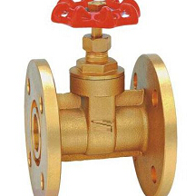 Industrial valve and flange